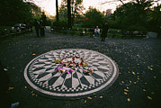 Central Park Photo Posters - The Imagine Mosaic, A Memorial To John Poster by Melissa Farlow