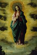 Heavens Painting Metal Prints - The Immaculate Conception Metal Print by Francisco de Zurbaran