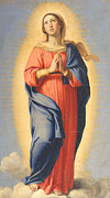 Christian Painting Framed Prints - The Immaculate Conception Framed Print by Il Sassoferrato