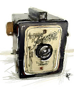 Film Camera Mixed Media Prints - The Imperial Print by Russell Pierce