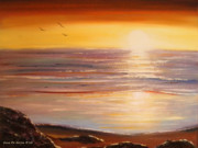 Beach Sunsets Originals - The Importance of Being There by Gina De Gorna