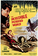 1950s Movies Framed Prints - The Incredible Petrified World, Poster Framed Print by Everett