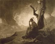 Derby Photos - The Indian Widow by Joseph Wright of Derby