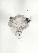 Hand Made Paper Prints - The Inexplicable Ignition Of Time Expanding Into Free Space Phase One Number 17 Print by Mark M  Mellon