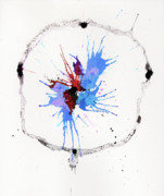 Ink Splatter Art - The Inexplicable Ignition Of Time Expanding Into Free Space Phase Two Number 05 by Mark M  Mellon