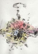 Ink Splatter Art - The Inexplicable Ignition Of Time Expanding Into Free Space Phase Two Number 10 by Mark M  Mellon