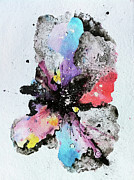 Ink Splatter Art - The Inexplicable Ignition Of Time Expanding Into Free Space Phase Two Number 29  by Mark M  Mellon