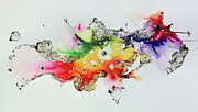 Ink Splatter Art - The Inexplicable Ignition Of Time Expanding Into Free Space Phase Two Number 30 by Mark M  Mellon
