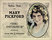 1910s Poster Art Framed Prints - The Informer, Mary Pickford, 1912 Framed Print by Everett