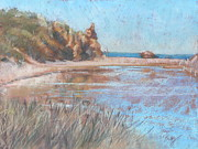 Plain Pastels Prints - The Inlet Print by Pamela Pretty