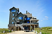 Rodanthe Prints - The Inn at Rodanthe Print by Kelley Nelson