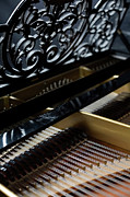 Hobbies Prints - The Inside Of A Piano Print by Studio Blond
