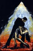 Embrace Painting Metal Prints - The Intoxication of Tango Metal Print by Richard Young