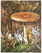 Fairies Posters - The Intruders Poster by John Anster Fitzgerald