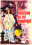 1960s Poster Art Framed Prints - The Invasion Of The Vampires, Aka La Framed Print by Everett