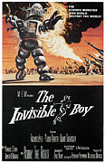 1950s Poster Art Framed Prints - The Invisible Boy, Robby The Robot Framed Print by Everett