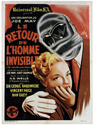 Bandages Prints - The Invisible Man Returns Aka Le Retour Print by Everett