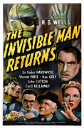 Horror Movies Posters - The Invisible Man Returns, Clockwise Poster by Everett