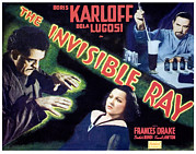 Lobbycard Framed Prints - The Invisible Ray, Boris Karloff Framed Print by Everett