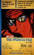1960s Movies Posters - The Ipcress File, Michael Caine, 1965 Poster by Everett