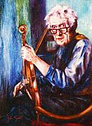 Violins Paintings - The Irish Violin Maker by John Keaton