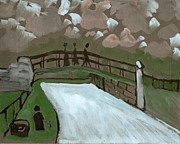 Postal Originals - The iron bridge by Peter  McPartlin