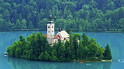 Slovenia Photos - The Island by Daniel Csoka