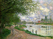 Pathway Painting Metal Prints - The Island of La Grande Jatte Metal Print by Claude Monet