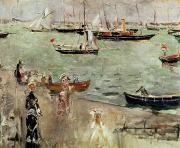 Fishing Painting Prints - The Isle of Wight Print by Berthe Morisot
