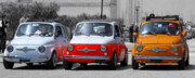 Fiat 500 Posters - The Italian small car Poster by Alessandro Matarazzo
