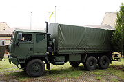 Component Photo Posters - The Iveco M250 8 Ton Truck Used Poster by Luc De Jaeger