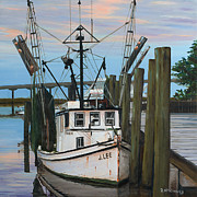 Shrimp Boat Paintings - the J LEE by Rick McKinney