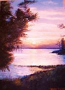 The James River At Twilight Print by Anne-Elizabeth Whiteway
