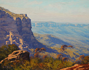 Signed . Nature Paintings - The Jamison Valley by Graham Gercken