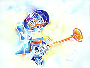 Trombone Painting Originals - The Jazz Man by Jo Lynch