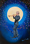 Visionary Art Painting Prints - The Jazzman Print by Joyce Small