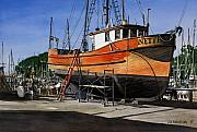 Boat Paintings - The Jeanette by James Robertson