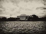 Tidal Photographs Framed Prints - The Jefferson Memorial Framed Print by Bill Cannon