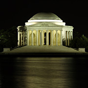 Jefferson Memorial Tapestries Textiles - The Jefferson Memorial by Kim Hojnacki