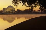 Thomas Jefferson Posters - The Jefferson Memorial Reflected Poster by Kenneth Garrett