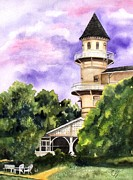 Historical Buildings Paintings - The Jekyll Island Club by Karen Casciani