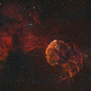Explosion Posters - The Jellyfish Nebula Poster by Rolf Geissinger