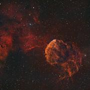 The Jellyfish Nebula Print by Rolf Geissinger