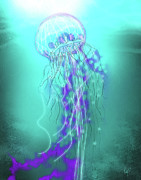 Egg Pastels Framed Prints - The Jellyfish Framed Print by Roly D Orihuela
