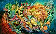 Hebrew Paintings - The Jerusalem Key by Elena Kotliarker