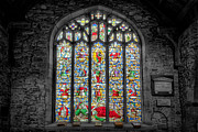 Stained Glass Acrylic Prints - The Jesse Window  Acrylic Print by Adrian Evans