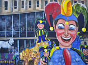 Mardi Gras Paintings - The Jester by Terry Sita