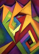 Geometric Pastels Prints - The Jester Print by Tracey Levine