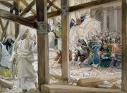 Jesus Painting Framed Prints - The Jews took up Stones to Cast at Him Framed Print by Tissot