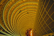 Hyatt Hotels Framed Prints - The Jin Mao Tower Looking Framed Print by Justin Guariglia